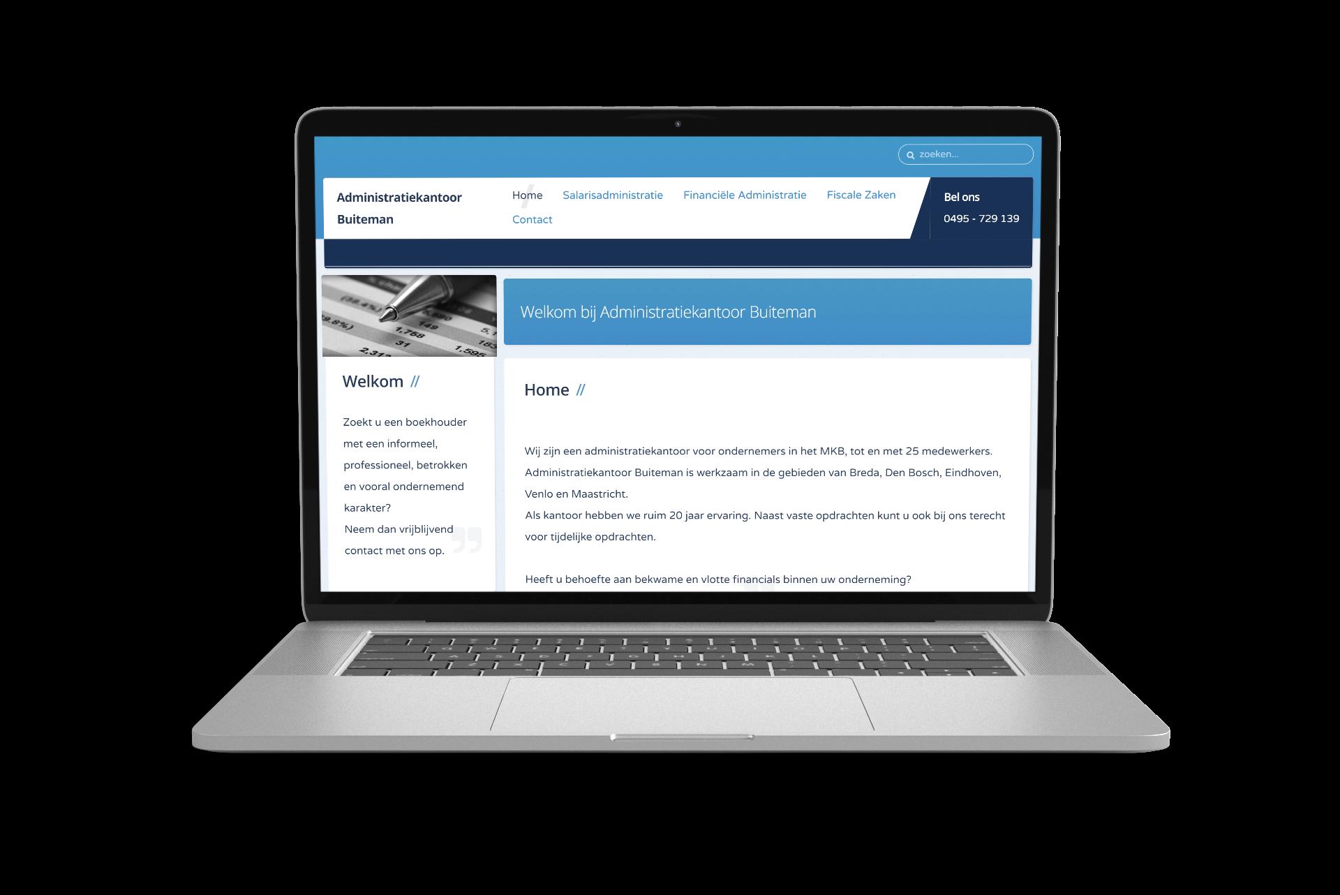 Website Administratiekantoor Buiteman